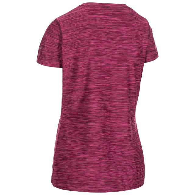 Daffney Women's Quick Dry Active T-Shirt in Berry Marl