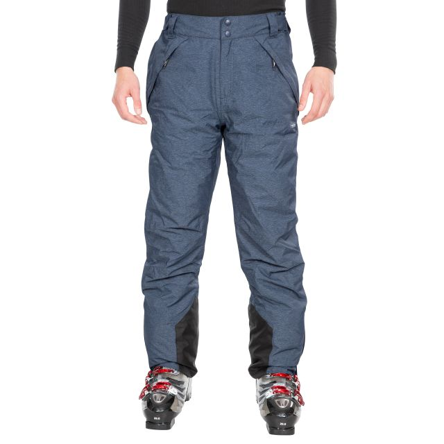 Denver Men's Waterproof Ski Salopettes in Navy Marl