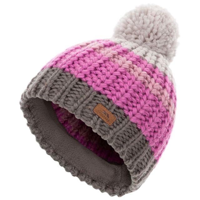 Trespass Kids Hat in Pale Grey Eris