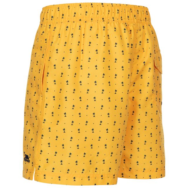 Trespass Men's Swimshorts Eugine Yellow Print