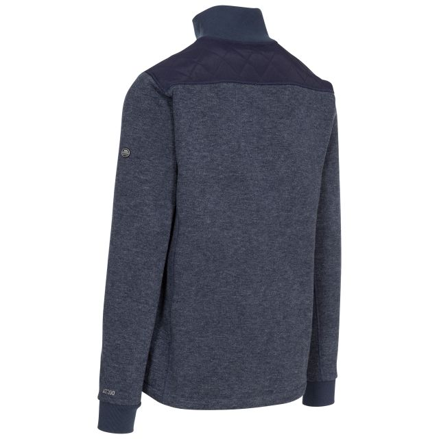 Trespass Mens Fleece Jacket Full Zip Chest Pocket Farlowton Blue