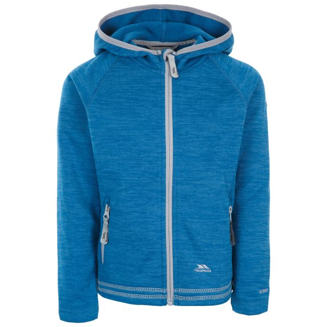 Trespass Kids Fleece Jacket with Hood Full Zip Goodness Blue