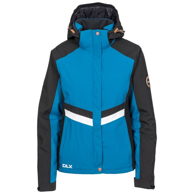 DLX  Womens Ski Jacket Waterproof Gwen in Cosmic Blue