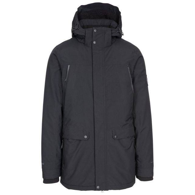 Harris Men's DLX Padded Waterproof Jacket with Sherpa Fleece Lining in Black