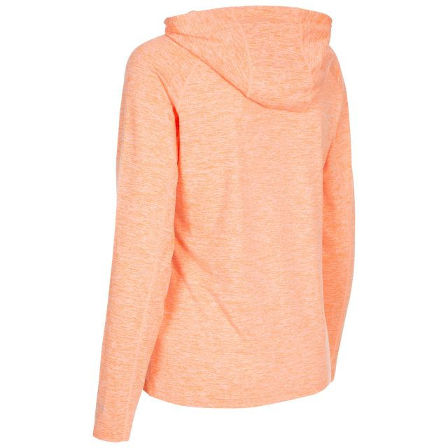 Hattie Women's Active Hoodie in Nectarine Marl