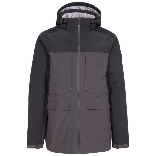 Heathrack Men's Padded Waterproof Jacket in Dark Grey