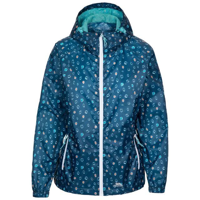 Trespass Women's Waterproof Packaway Jacket Indulge Cosmic Blue Print