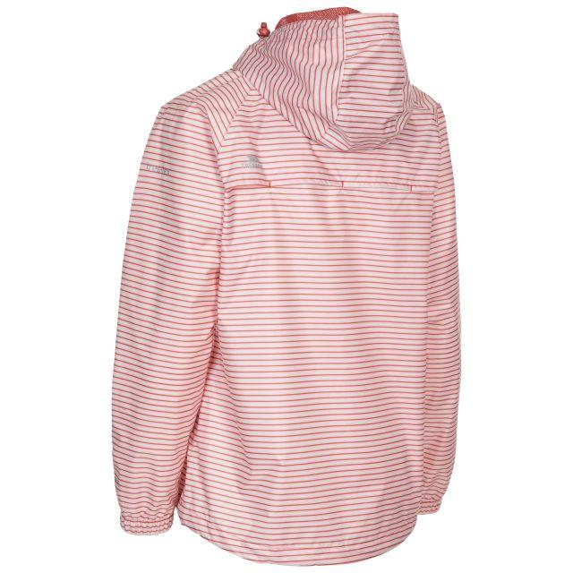 Trespass Women's Waterproof Packaway Jacket Indulge Rhubarb Stripe