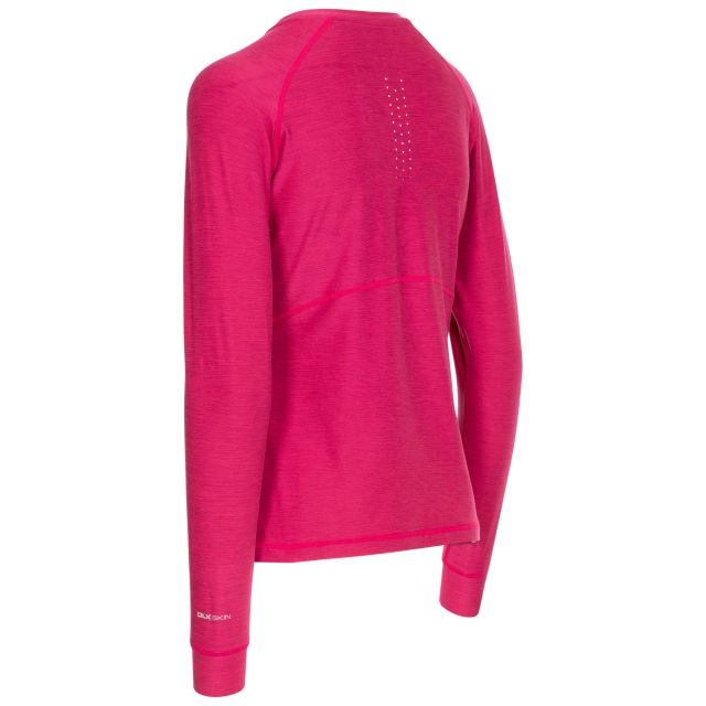 Jannett Women's Antibacterial Long Sleeve T-Shirt in Red