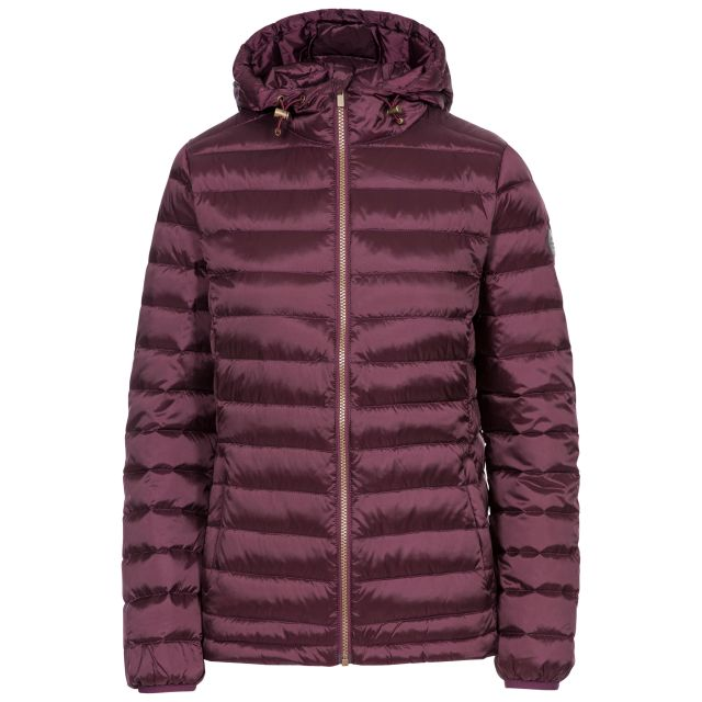Trespass Womens Down Jacket Katheryn in Fig