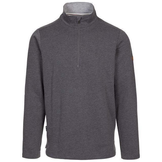 Trespass Men's 1/2 Zip Sweatshirt Loopington in Grey