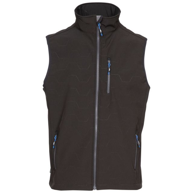 Louis Men's Softshell Gilet in Black