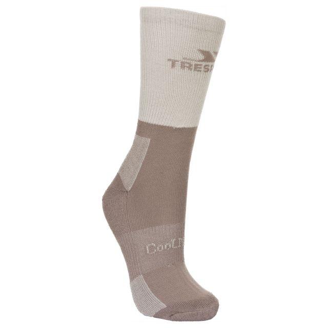 Trespass Womens Walking Socks Coolmax Breathable Leader Stone