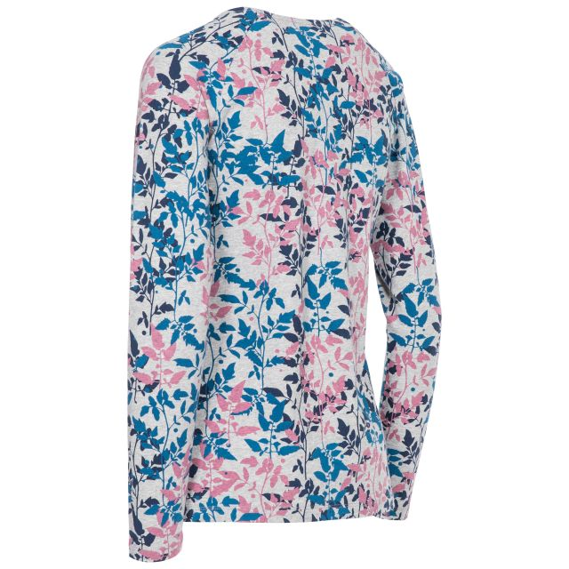 Margery Women's Long Sleeve Top Leaf Print