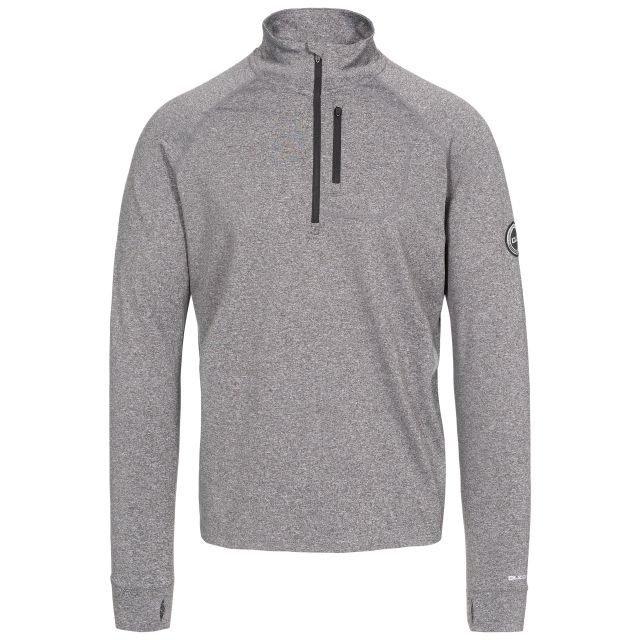 Nicholas Men's DLX Eco-Friendly Half Zip Active Top in Grey