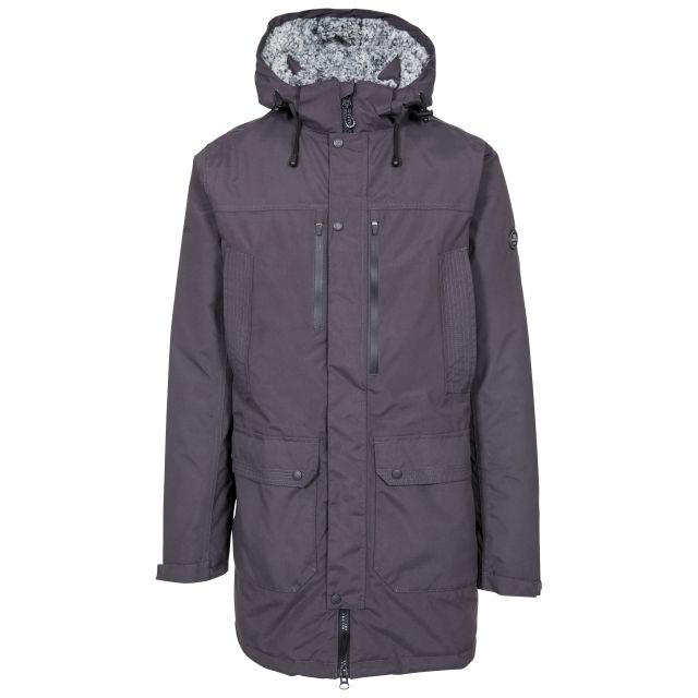 Quaintonring Men's Padded Waterproof Jacket in Dark Grey