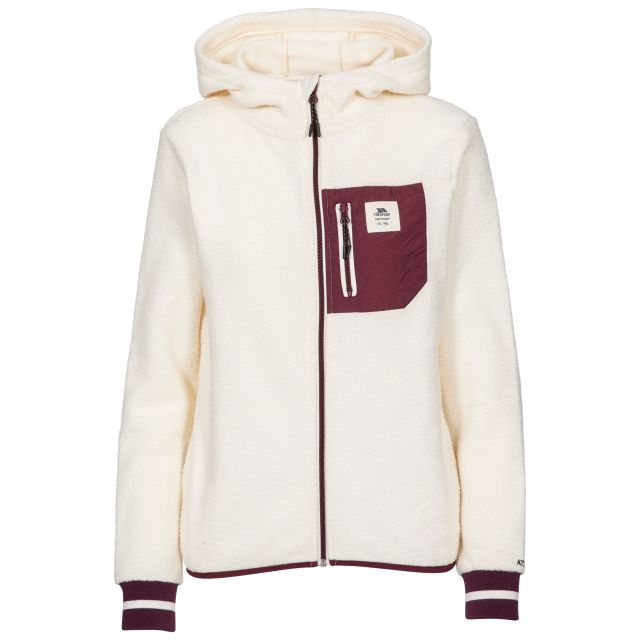 Trespass Womens Fleece Hoodie Full Zip Rebola in White