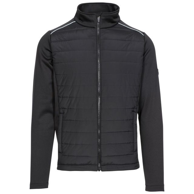 Reid Men's Zip Top with Padded Body in Black