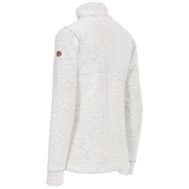 Trespass Women's 1/4 Zip Fleece 2 Side Pockets Ronette in White