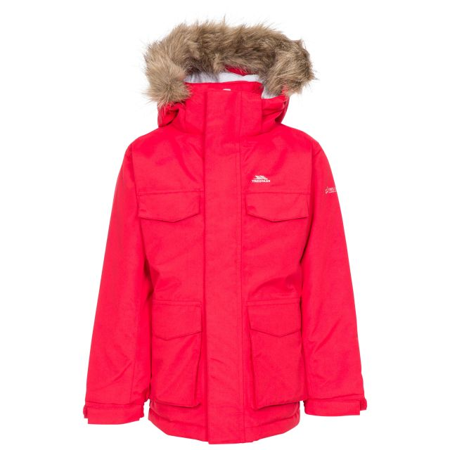 Starrie Kids Padded Waterproof Parka Jacket - RED