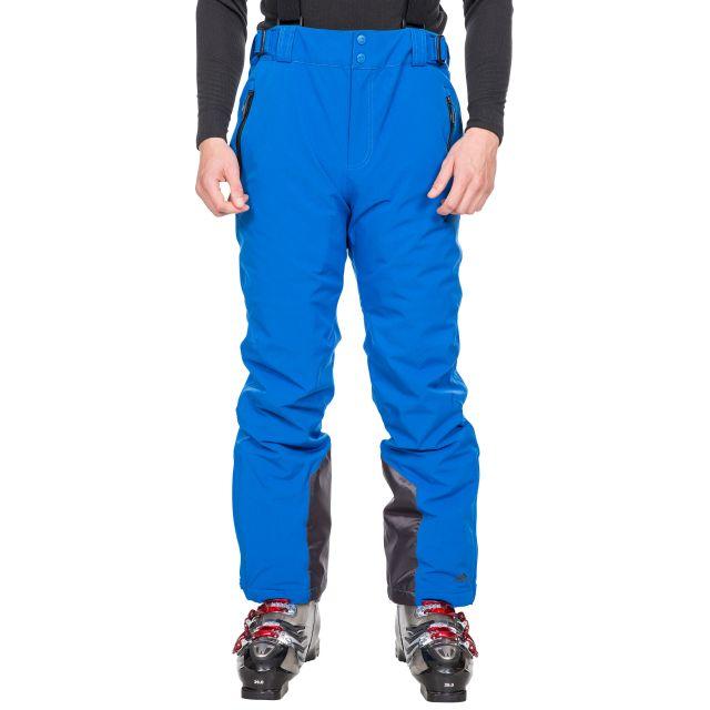 Trespass Mens Salopettes Lightly Padded Slim Fit Trevor Blue, Front view on model