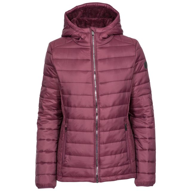 Valerie Women's Padded Jacket - FIG, Front view on mannequin