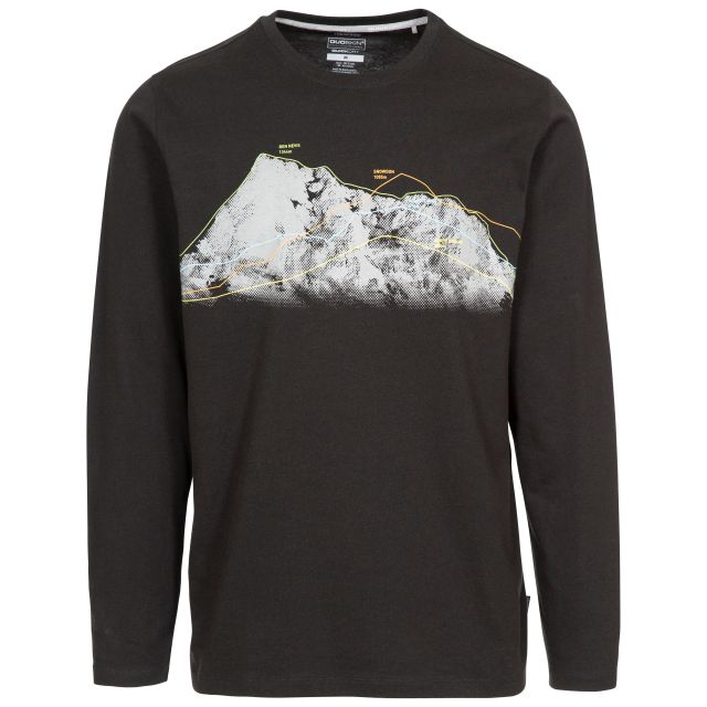 Wrenburyton Men's Long Sleeve Top with Quick Dry - BLK