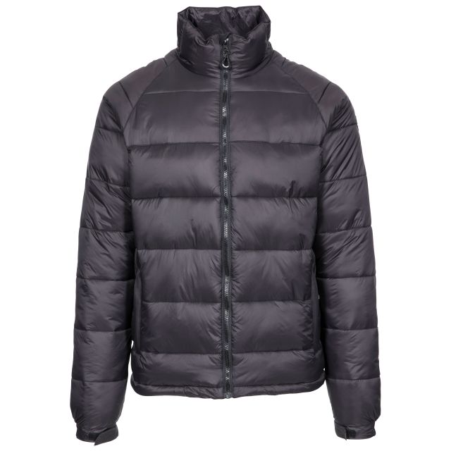 Yattendon Men's Padded Jacket - BLK, Front view on mannequin