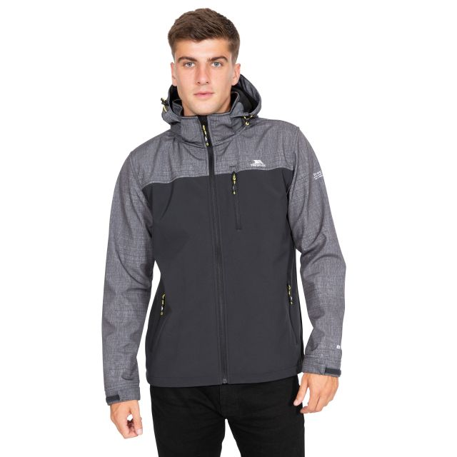 Abbott Men's Breathable Softshell Jacket in Grey