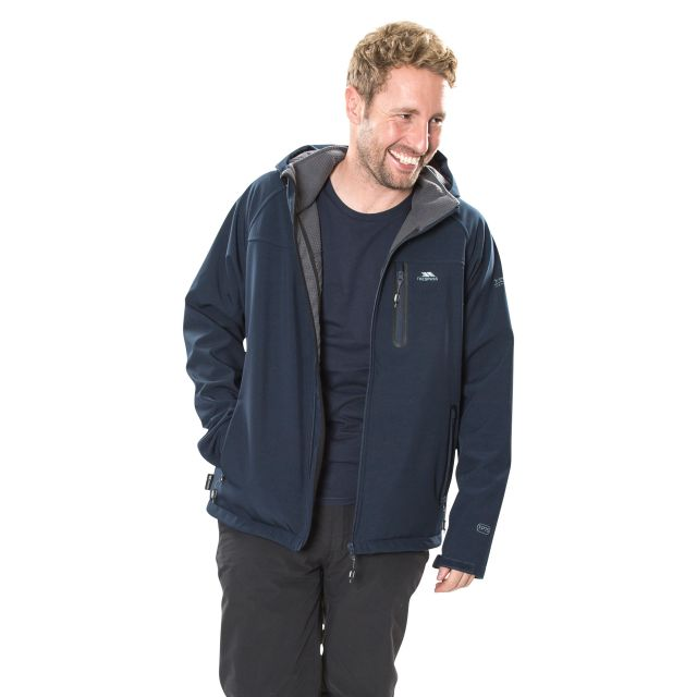 Accelerator II Men's Hooded Softshell Jacket in Navy