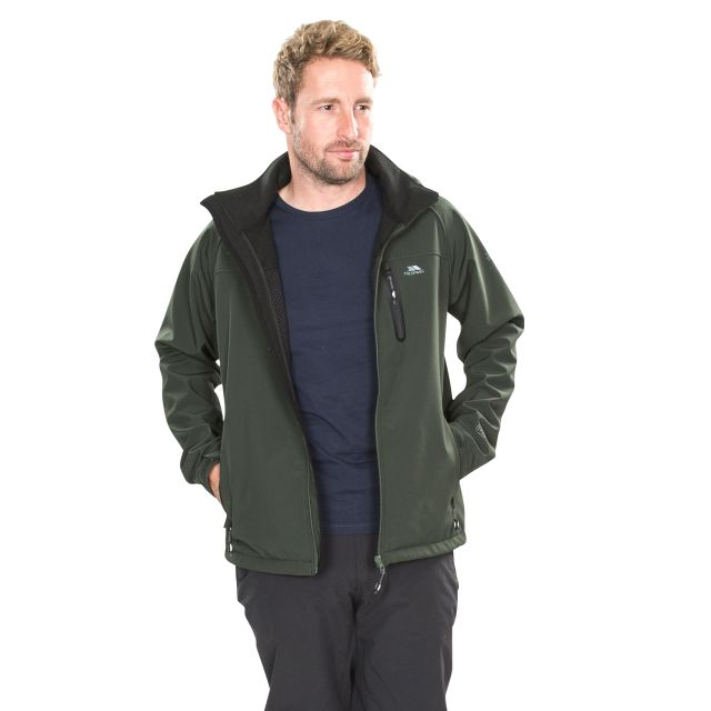 Accelerator II Men's Hooded Softshell Jacket in Khaki
