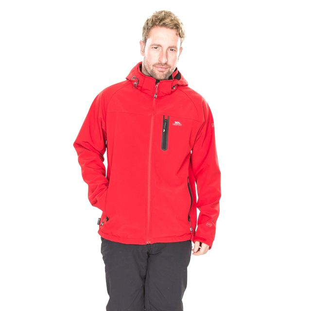 Accelerator II Men's Hooded Softshell Jacket in Red