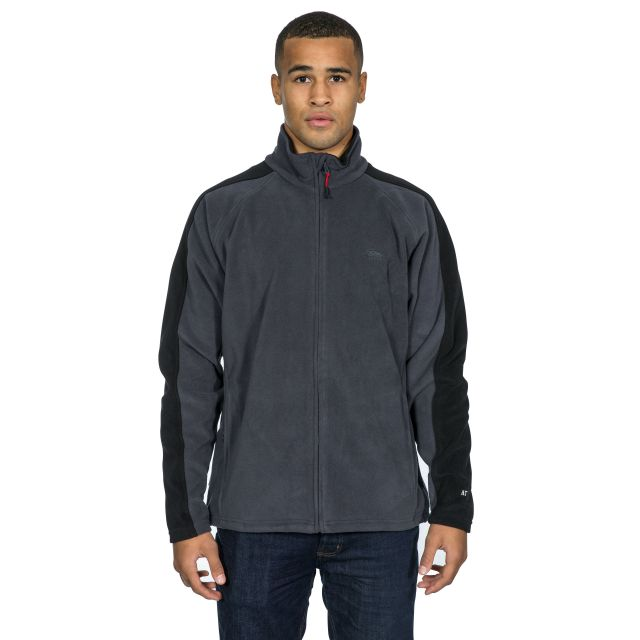 Acres Men's Fleece Jacket in Grey