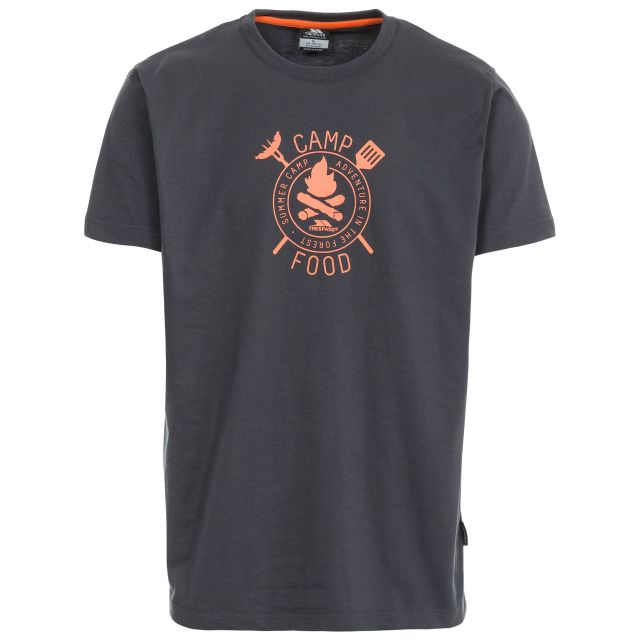 Adder Men's Printed Casual T-Shirt in Grey