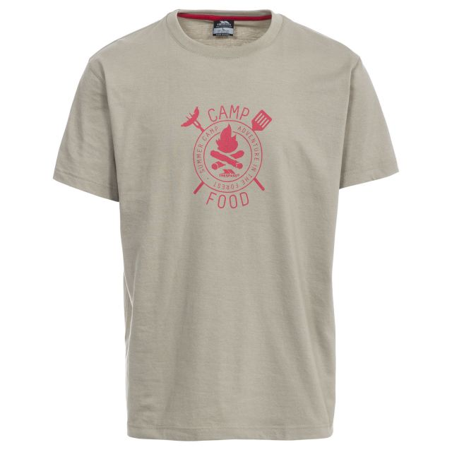 Adder Men's Printed Casual T-Shirt in Beige
