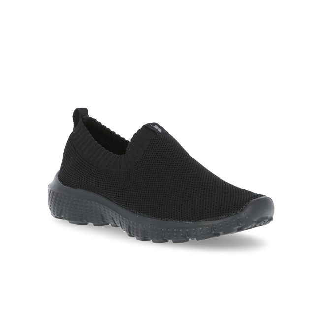 Adler Women's Slip On Memory Foam Trainers in Black