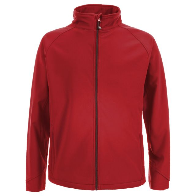 Akron Men's Softshell Jacket - RED