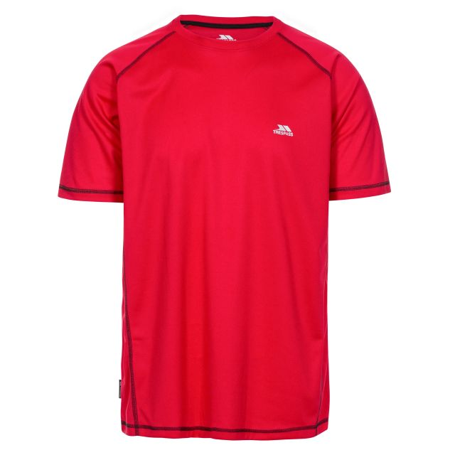 Albert Men's Quick Dry Active T-Shirt in Red