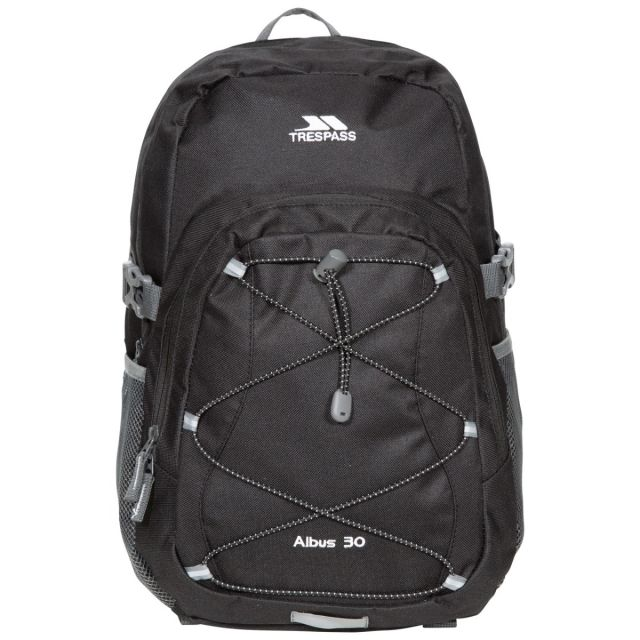 Albus 30L Backpack in Black, Front view