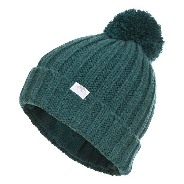 Alisha Women's Knitted Bobble Hat in Teal