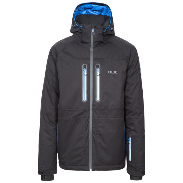 Allen Men's DLX RECCO Waterproof Ski Jacket in Black