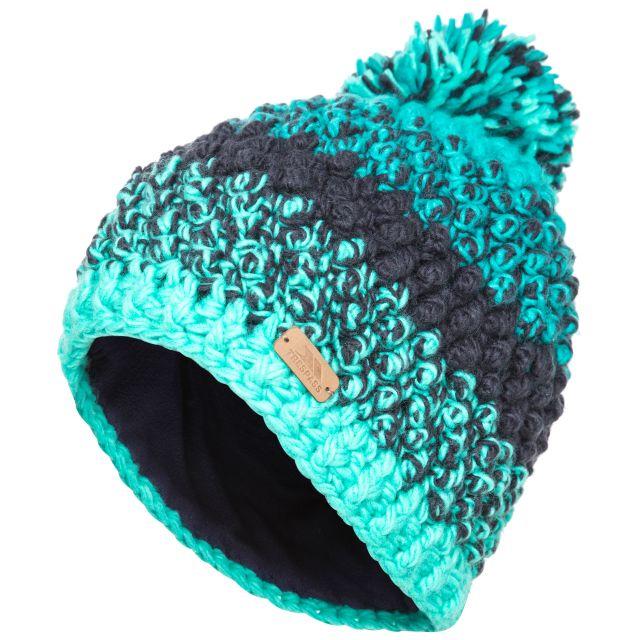 Alver Women's Hand Knitted Bobble Hat in Navy