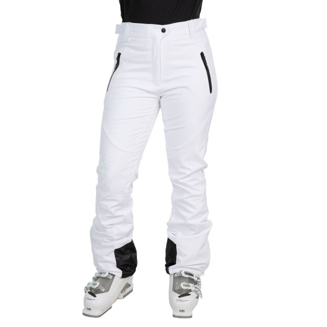 Amaura Women's Softshell Ski Trousers in White