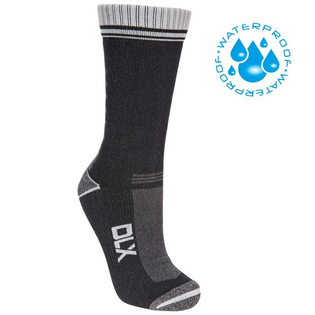 Amphibian Unisex DLX Waterproof Socks in Black