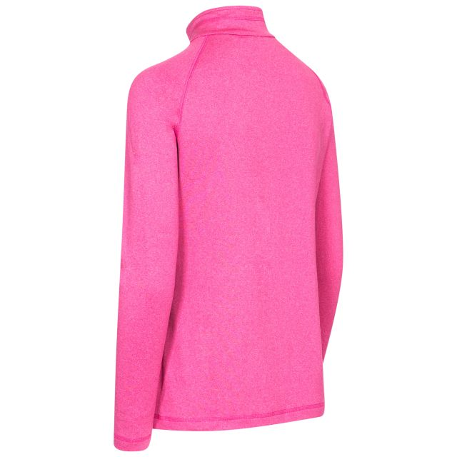 Ana Women's DLX 1/2 Zip Long Sleeve Active Top in Pink