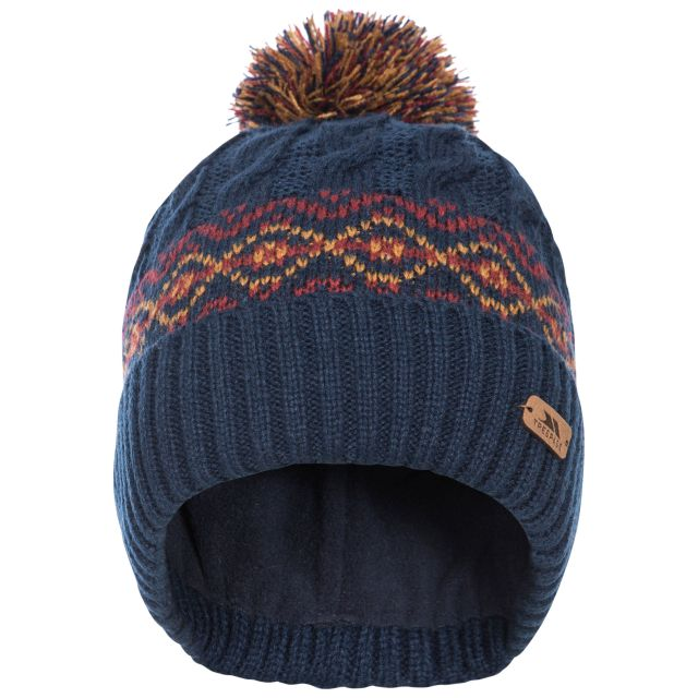 Andrews Men's Fleece Lined Bobble Hat in Navy