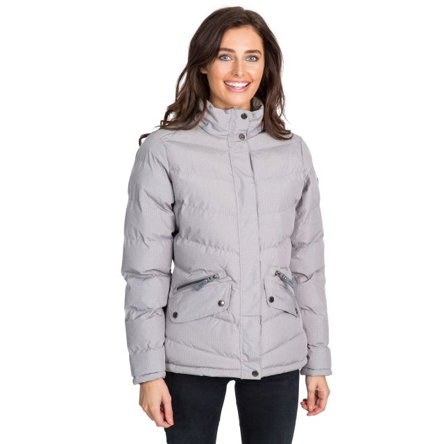 Angelina Women's Padded Jacket in Light Grey