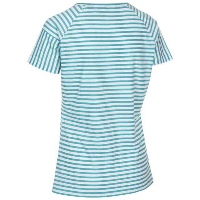 Ani Women's Printed T-Shirt Aquamarine Printed Stripe