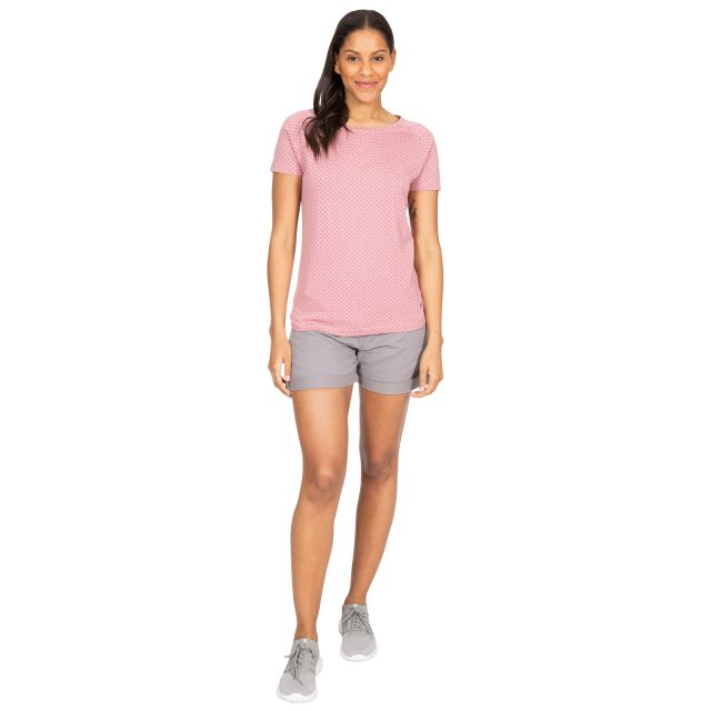 Ani Women's Printed T-Shirt in Light Purple