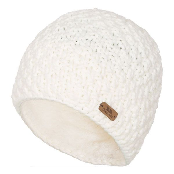 Ania Women's Knitted Beanie Hat in White